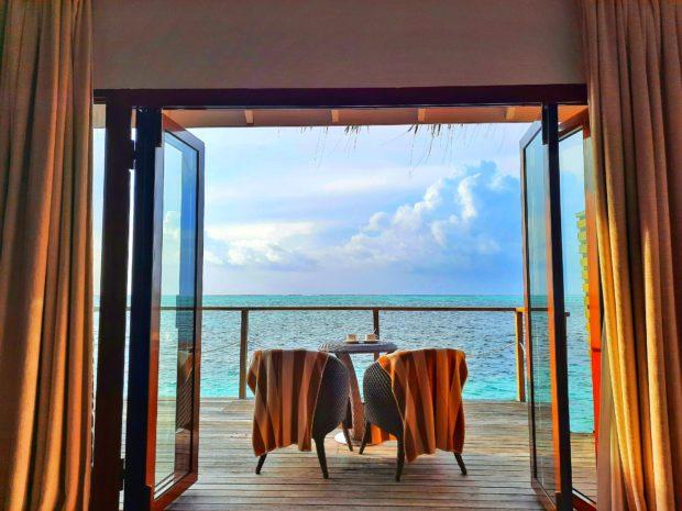 terraza overwater Maldivas
