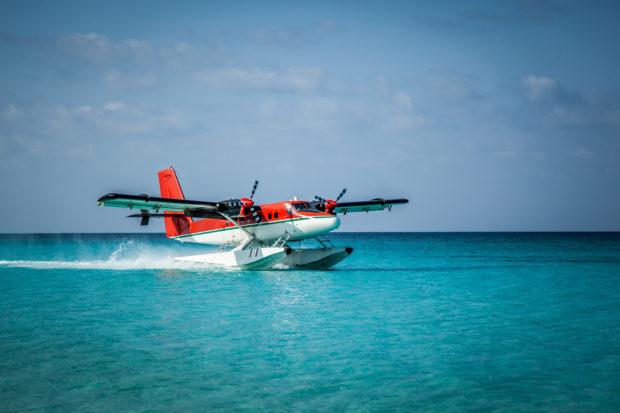 aterrizaje hidroavión Maldivas