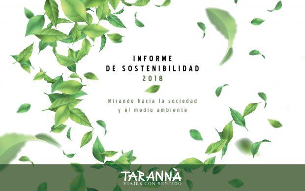 Tarannà Viajes con Sentido presenta la Memoria de Sostenibilidad 2018
