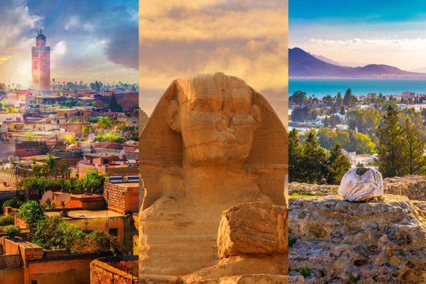 Destinos de media distancia: Marruecos, Egipto y Túnez