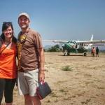 Nuestra compañera Mar en ruta de camión por África con el mejor guía Juan