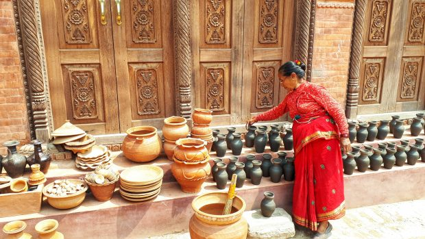 que ver en Bhaktapur: plaza de la cerámica