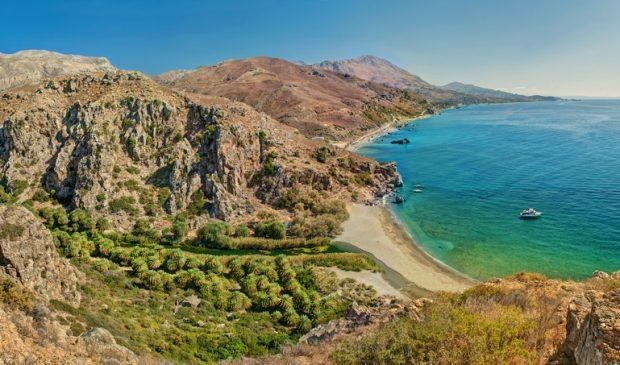 que ver en Creta: playa de Preveli