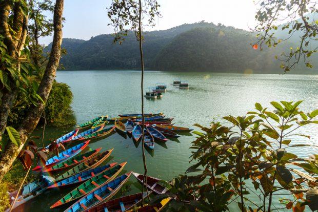 que ver en Nepal: lago Phewa en Pokhara