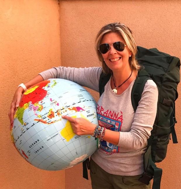 María Rosa a punto de viajar a Indonesia