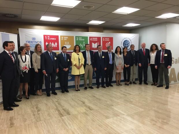 Pacto Mundial con empresas colaboradoras en el evento Objetivos de desarollo sostenible