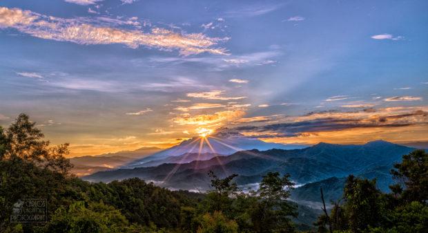 viaje a Borneo: puesta de sol
