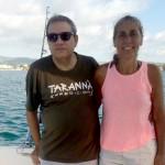 Carles y Elvira disfrutando de sus vacaciones