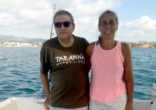 Carles i Elvira disfrutando de sus vacaciones