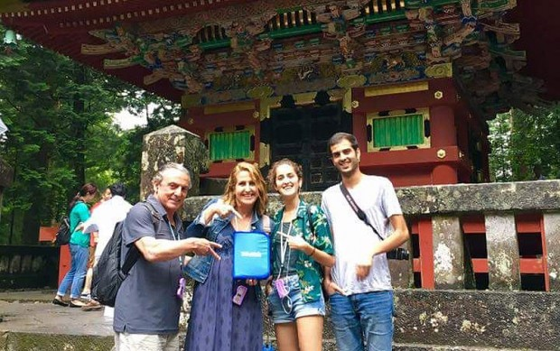Mercè, viaje en familia a Japón
