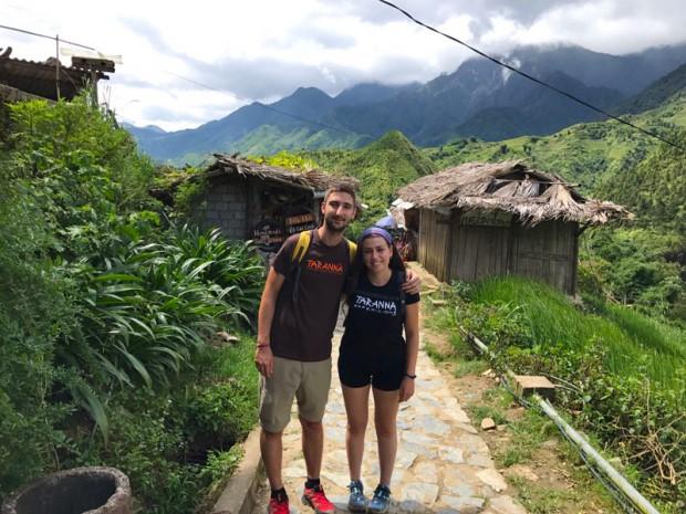 Pau y Eli durante su viaje por Vietnam