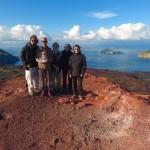 Begoña Matilla con su familia y amigos disfrutando en su viaje a Islandia