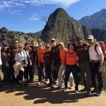 Viajeros Tarannà en el Machu Picchu durante su viaje a Perú.
